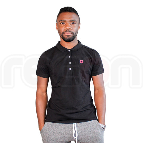 Fitted Polo Shirt - Black