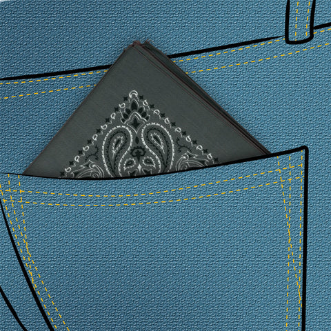 Charcoal Hanky - Rubber