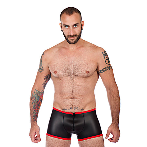 Neoprene Backless Boxer Shorts - Red