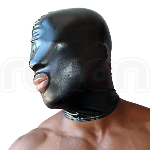 Wet Look Lycra Hood - Mouth Hole