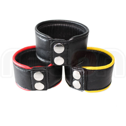 Recon Leather Wrist Band - Red