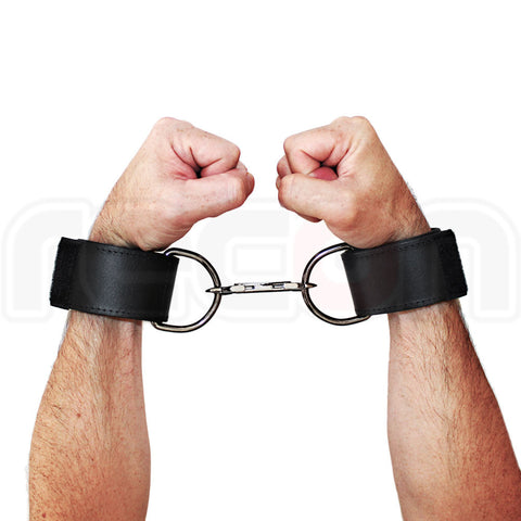 Leather Wrist Cuffs - Velcro