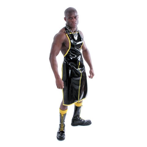 Recon London Perverted Rubber Apron - Black w/ Yellow