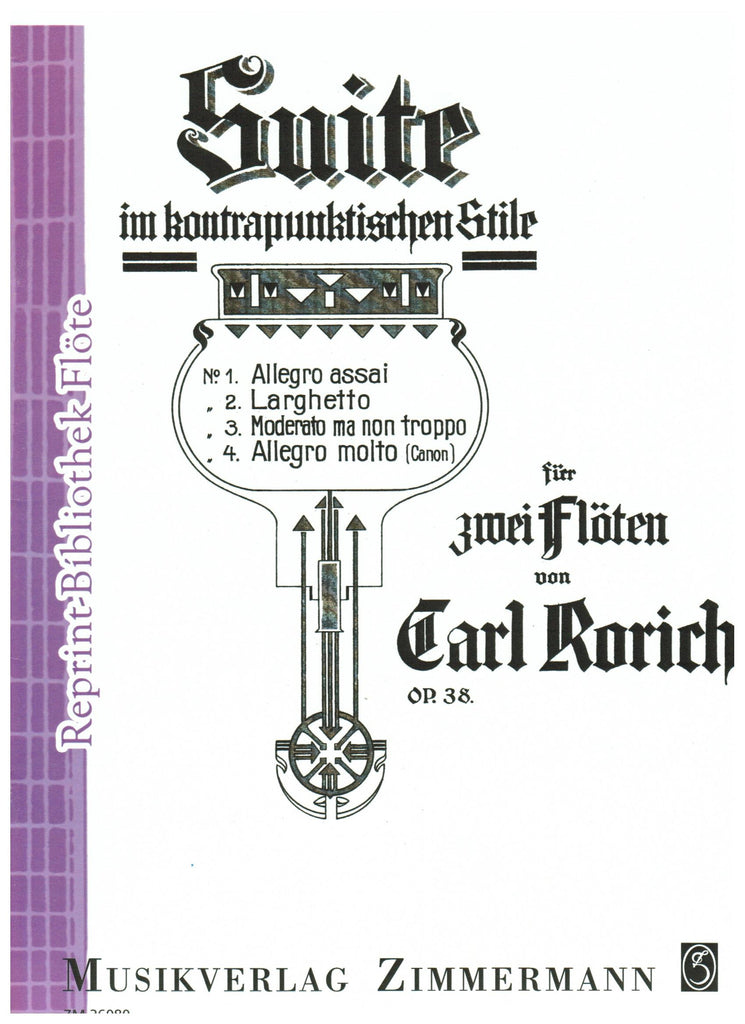 Rorich, Carl : Suite in Contrapuntal Style, Op. 38