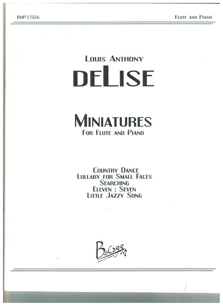 deLise, Louis Anthony : Miniatures for Flute and Piano