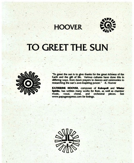 Hoover, Katherine : To Greet The Sun