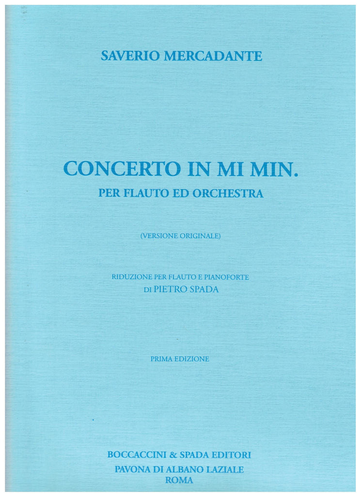 Mercandante, Saverio  : Concerto in E Minor