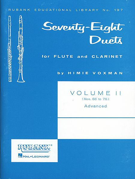 78 Duets for Flute and Clarinet - Volume 2