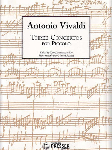 Vivaldi, Antonio: Three Concertos for Piccolo