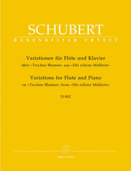 Schubert, Franz  : Variations for Flute and Piano on Trockne Blume