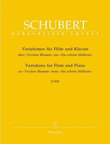 Schubert:Variations for Flute and Piano on Trockne Blume