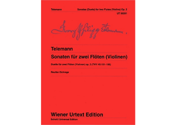 Telemann Six Sonatas for 2 Flutes