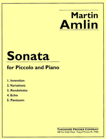 Amlin, Martin : Sonata for Piccolo and Piano