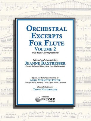 Baxtresser, Jeanne : Orchestral Excerpts for Flute,  Vol. 2