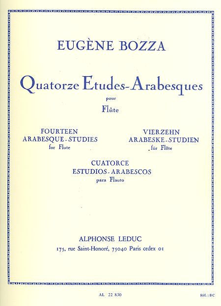 Bozza, Eugene : 14 Etudes Arabesques
