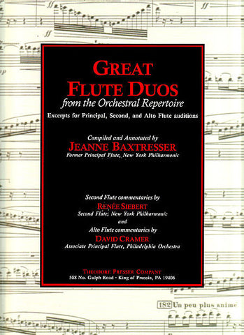 Baxtresser, Jeanne : Great Flute Duos
