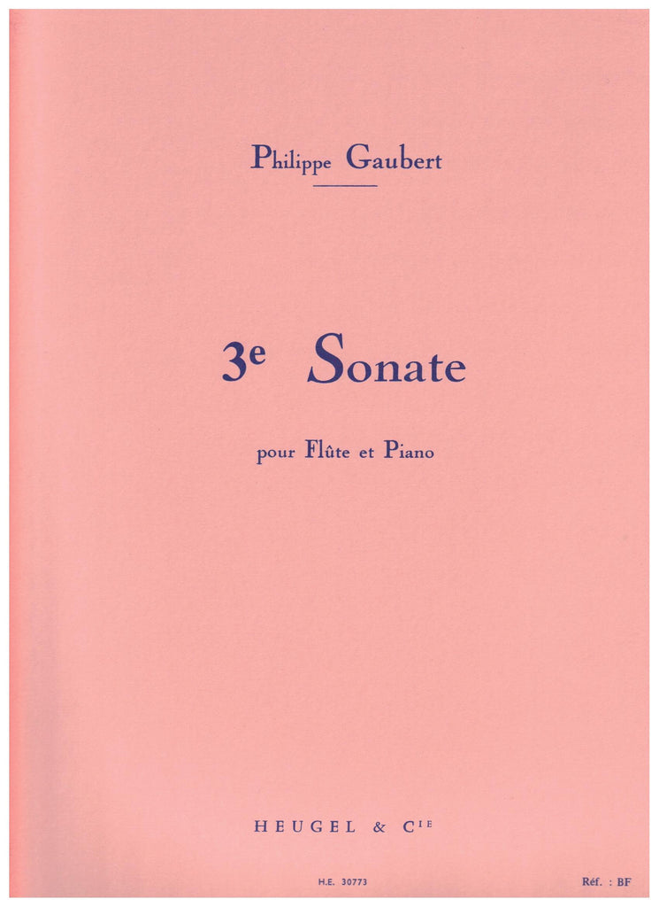 Gaubert, Philippe: Sonate No. 3