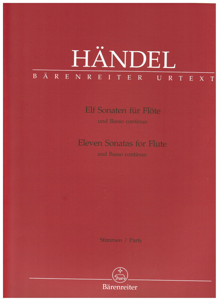 Handel, George Frideric : Eleven Sonatas for Flute