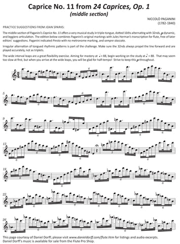 Articulation of the Month with Flute Pro Shop and Daniel Dorff- July- Free Download