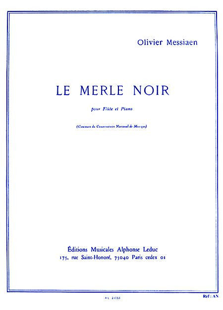 Messiaen- La Merle Noir