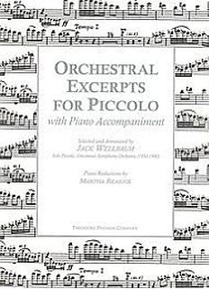 Wellbaum, Jack : Orchestral Excerpts for Piccolo