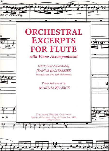 Baxtresser, Jeanne: Orchestral Excerpts for Flute