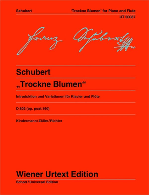 "Schubert, Franz : Variations for Flute and Piano on ""Trockne Blumen"""