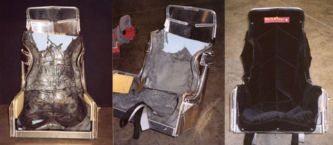 NASCAR custom-molded driver seat using Liquid SunMate FIPS