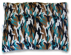 Green Camo Orthopedic Pet Bed
