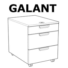 IKEA GALANT 3 DRAWER Chest Replacement Parts