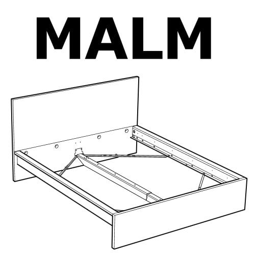 Elegant IKEA MALM Bed Frame HIGH Bed Replacement Parts