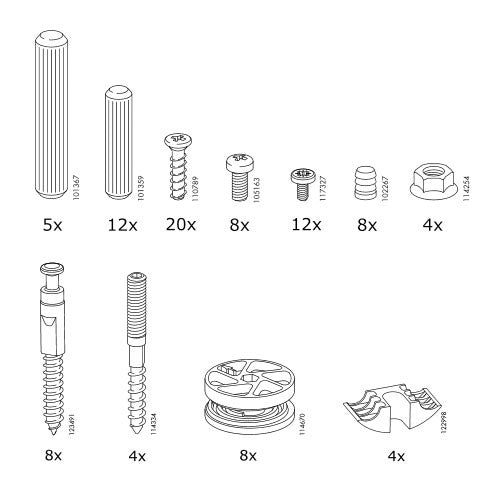 Replacement hardware for ikea furniture online information for Ikea helpline assembly
