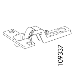 IKEA Rakke Door Hinge Set (IKEA Part #109337 and #109221)