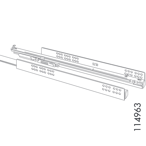 Motion-Slow Rail Set (IKEA Part #114963)