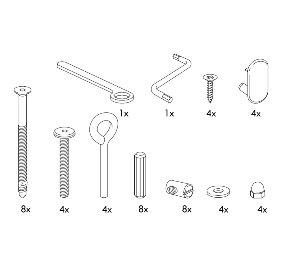 IKEA GULLIVER Crib Replacement Parts – FurnitureParts.com