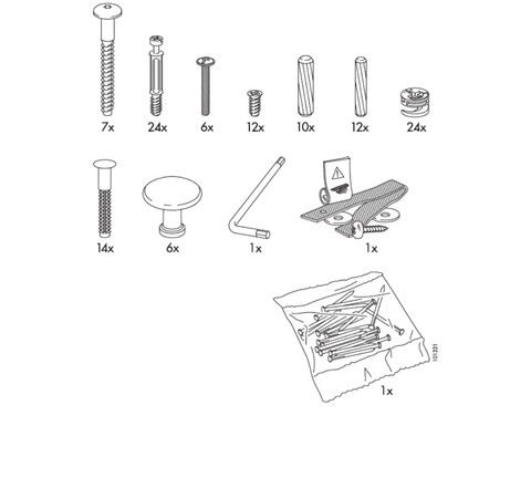 IKEA HEMNES Dresser Replacement Parts