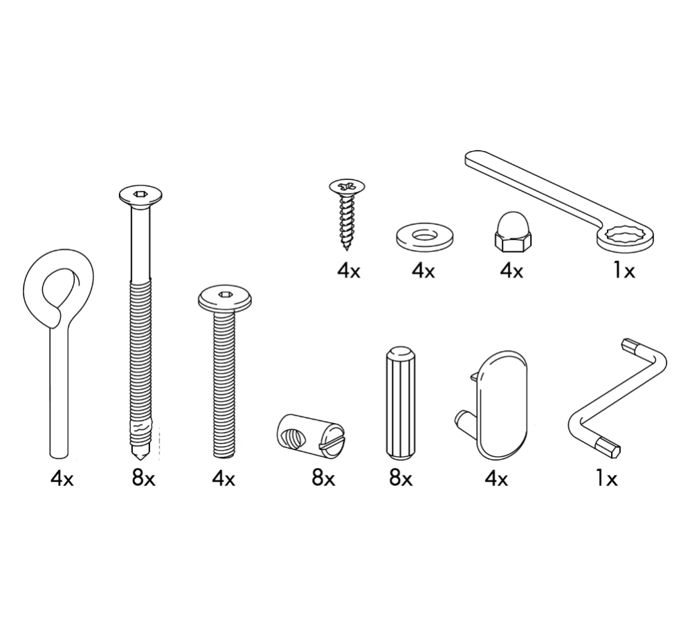 IKEA HENSVIK Crib Replacement Parts