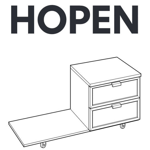 IKEA HOPEN Bedside Table Replacement Parts