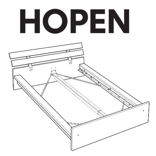 ikea hopen bed frame replacement parts. Black Bedroom Furniture Sets. Home Design Ideas