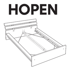 Captivating IKEA HOPEN Bed Frame Replacement Parts