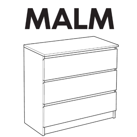 IKEA MALM Dresser Replacement Parts