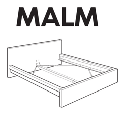 IKEA MALM LOW Bed Frame Hardware - IKEA Replacement Parts for Assembling IKEA Beds
