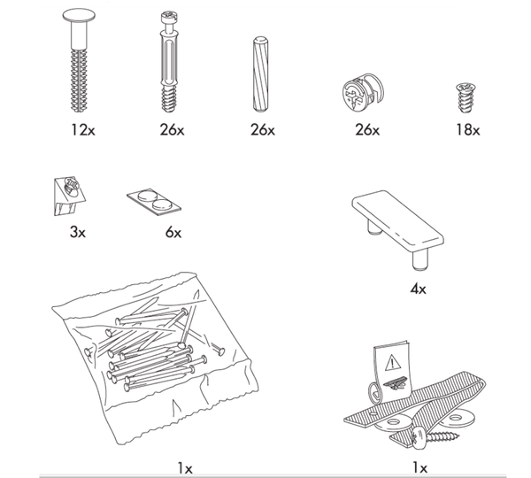 IKEA MALM Chest Replacement Parts – FurnitureParts com