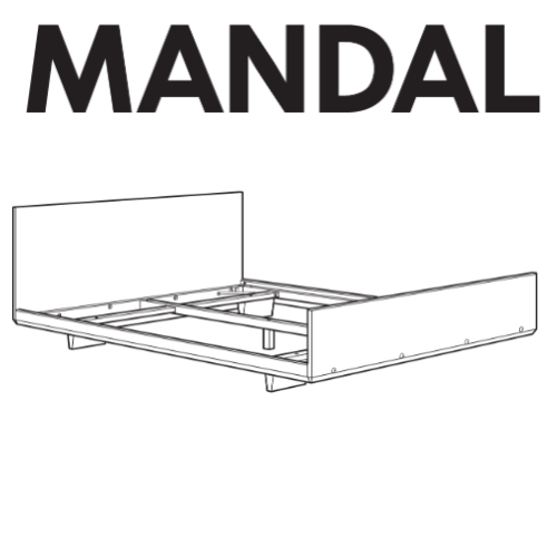 IKEA MANDAL Bed Frame Replacement Parts – FurnitureParts
