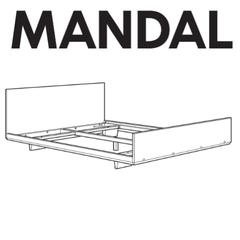 IKEA MANDAL Bed Frame Replacement Parts