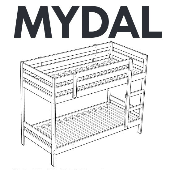 Ikea Mydal Bunk Bed Replacement Parts Furnitureparts Com