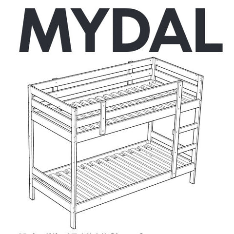 IKEA MYDAL Bunk Bed Replacement Parts