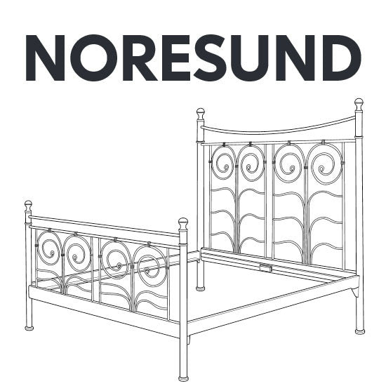 Faktum Ikea Monteringsanvisning ~ IKEA NORESUND Bed Frame Replacement Parts – FurnitureParts com