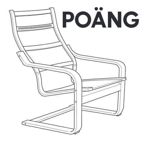 IKEA Poang Armchair Hardware Set