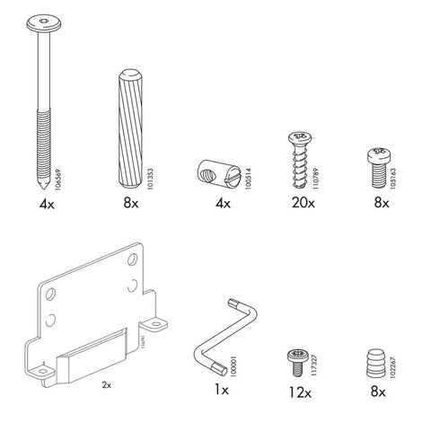 IKEA RAMBERG Bed Frame Replacement Parts